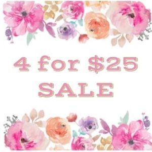 Choose 4 qualifying 🎈 listings for $25